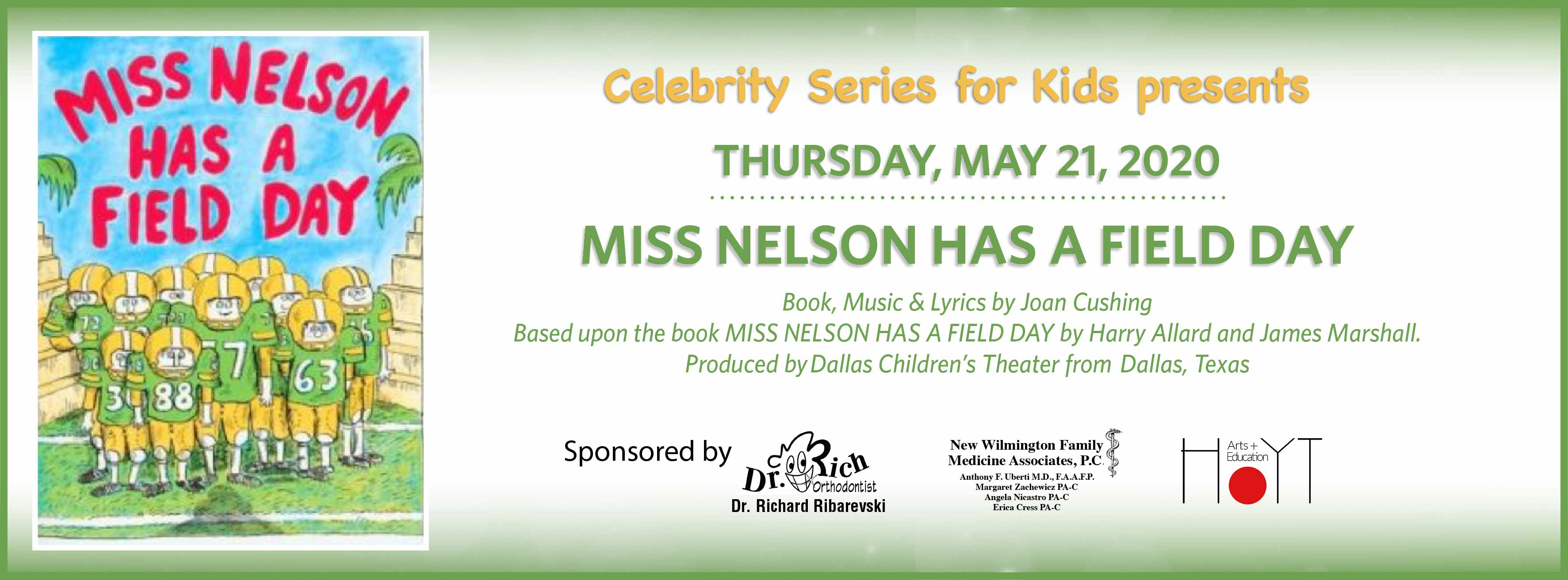 Miss Nelson Has a Field Day: Thursday, May 21, 2020