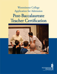 Post-Baccalaureate Teaching Certification brochure