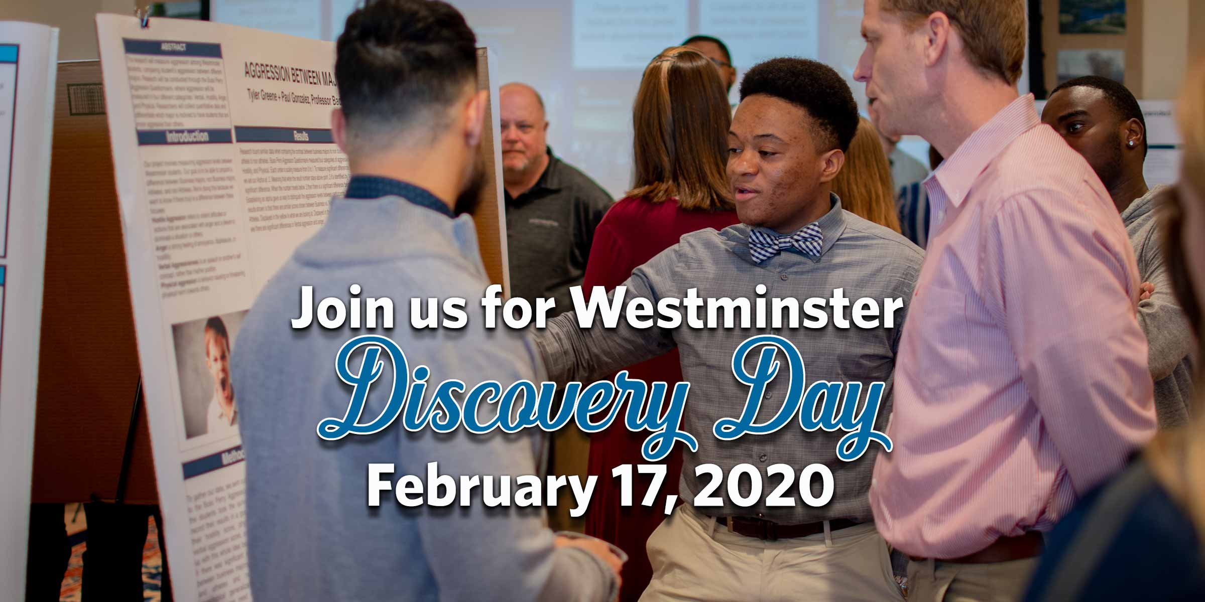 Visit us for Westminster Discovery Day February 17, 2020