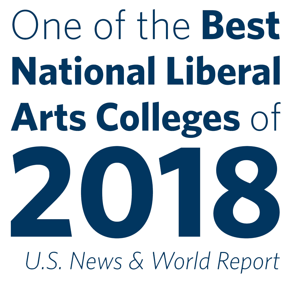 One of the best National Liberal Arts Colleges of 2018, US News and world report.