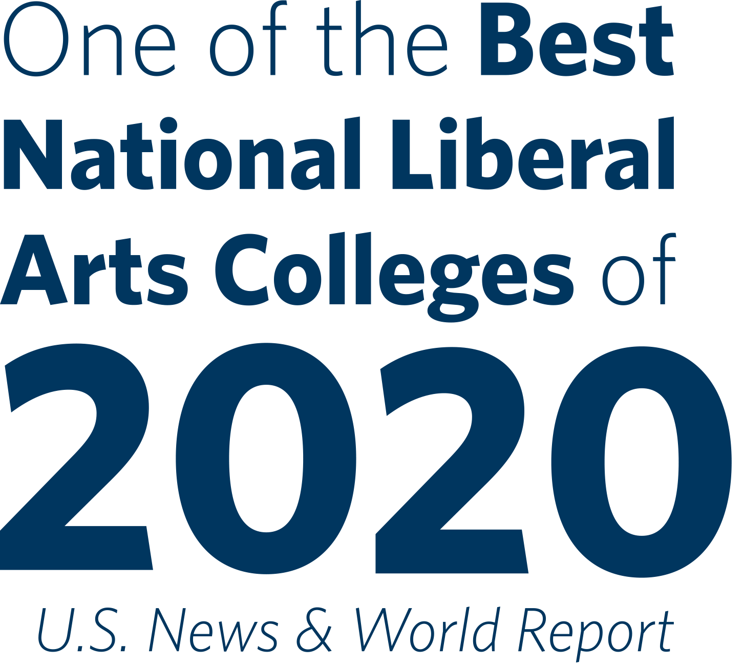 One of the best National Liberal Arts Colleges of 2020, US News and world report.