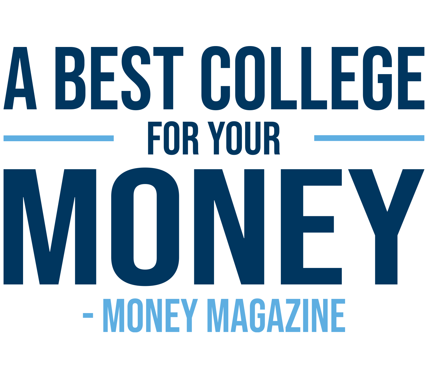 Money Magazine's Best College for Your Money.