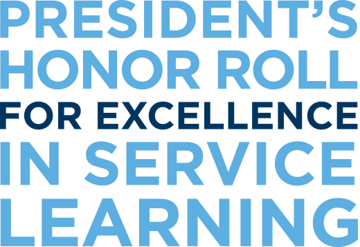 President's Honor Roll for Excellence in Service Learning