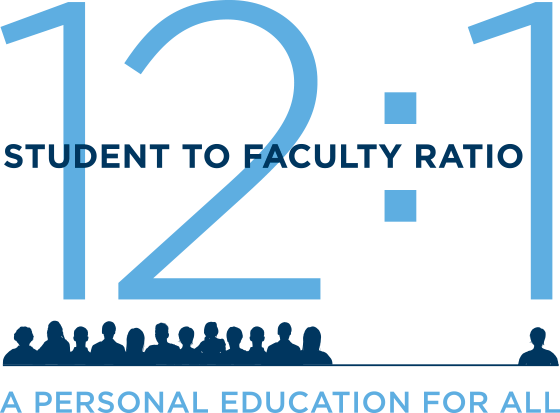 12:1 Student to Faculty Ratio - A Personal Education for All